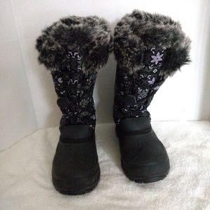 Kamik Momentum Winter Snow Boots Faux Fur 7 Flower